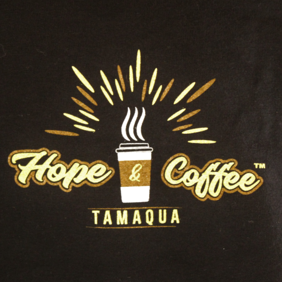 Hope And Coffee – Long Sleeve Black Tee